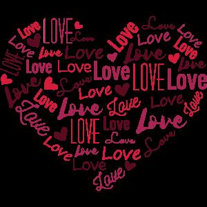 Herz mit LOVE