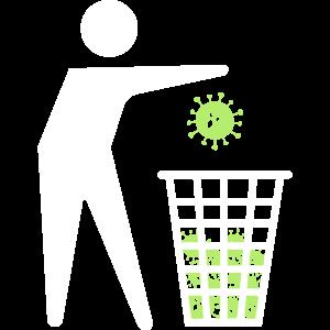 Virus Mülleimer - Kann weg - Papierkorb Viren