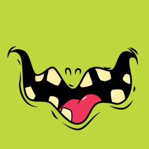 Glückliches Monster