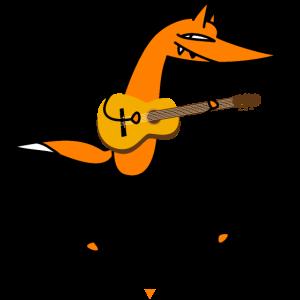 Schlauer Gitarrist- Fuchs