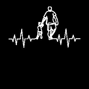 Vater Und Tochter Herzschlag EKG Partnerlook