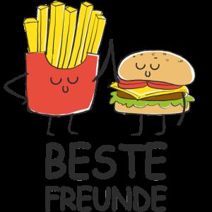 Hamburger Pommes Beste Freunde BFF