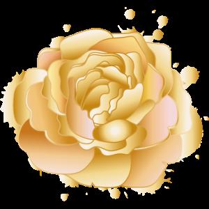 goldene Rose mit gold schimmernden Blütenblätter