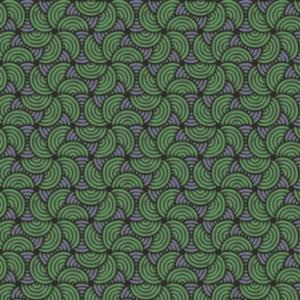 Abstrakt Muster Grüne Lilane Halbkreise