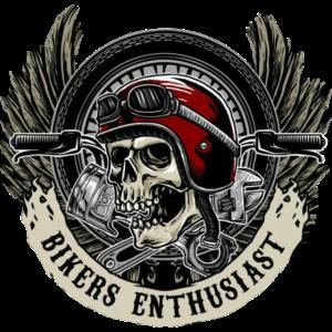 Motorradfahrer, Skull