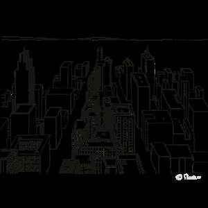 Stadt komplex Gebäude Wohnen Wolkenkratzer City