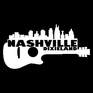 Nashville Dixieland Guitar Silhouette