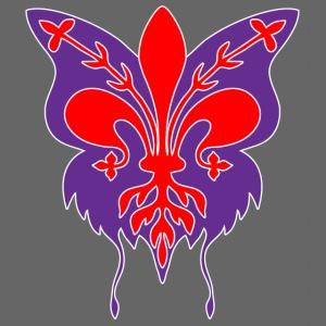 Giglio di Firenze con sagoma di farfalla