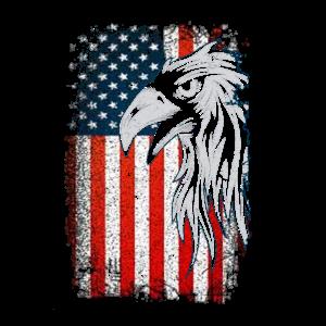 Amerikanische Flagge mit Adler
