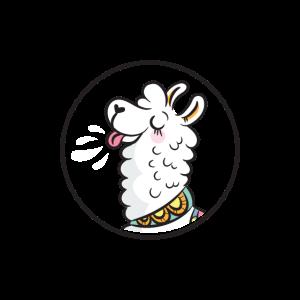 Gesichtsmaske Spuckende Lama mask Spitting Lama
