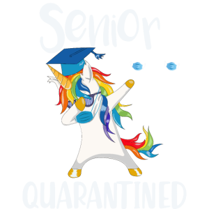 Funny Dabbing Unicorn Senior 2020 unter Quarantäne gestellt