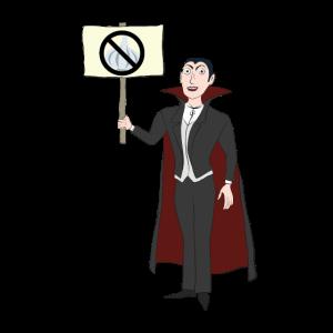 Kein Knoblauch Vampir protestiert