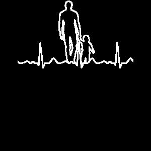 Vater und Sohn Herzschlag