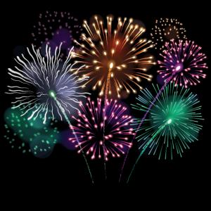 Feuerwerk Silvester Party Poster