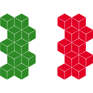 Italy National Flag - cube