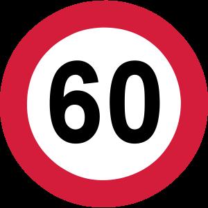 60.Geburtstag , Verkehrsschild ...+