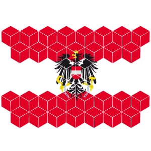 Austria National Flag - cube