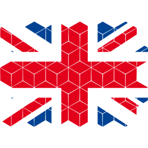 Great Britain National Flag - cube