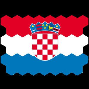 Croatia National Flag - cube