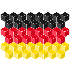Germany National Flag - cube 3D