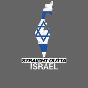 Straight Outta Israel country map & flag