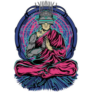 Cyber punk Monk Yoga