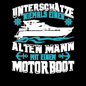 Unterschätze niemals einen alten Mann - Motorboot