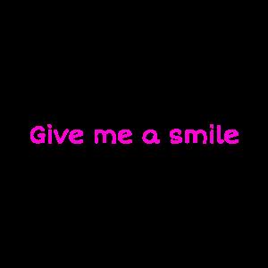 Lächeln und strahlen
