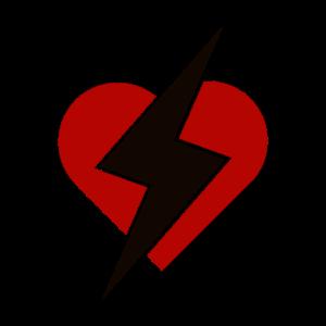 Herz mit Blitz