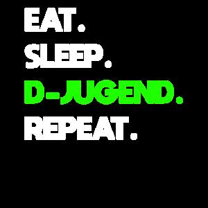 D-Jugend Mannschaft Eat sleep repeat Design