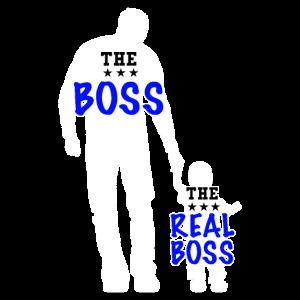Vater und Sohn Papa und Sohn Boss Lustiges Partner
