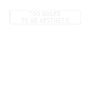 too broke to be aesthetic