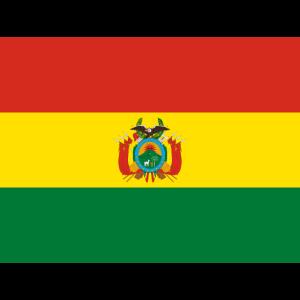 Mund- mit der Flagge Bolivien