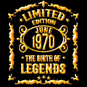 Geboren in Juni 1970 - 50 Geburtstag Geschenk