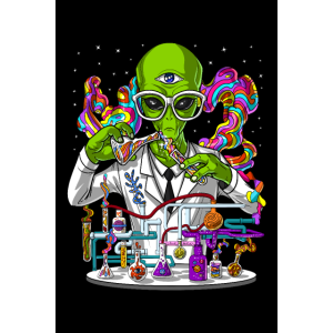 Space Alien Psychedelic Scientist