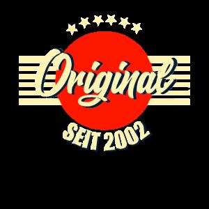 Geburtstag 2002 - Original seit 2002 Retro