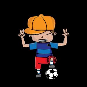 Fußballjunge - junger Fußballer