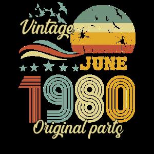 Vintage Juni 1980 Originalteile