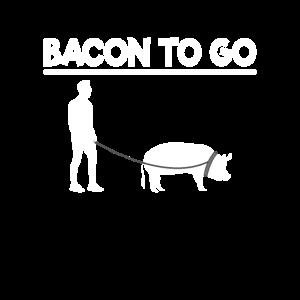 Grillen Bacon to Go lustig BBQ Geschenk Mann Wurst