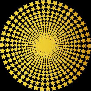 Optische Illusion Stern Star Geometrie Geschenk