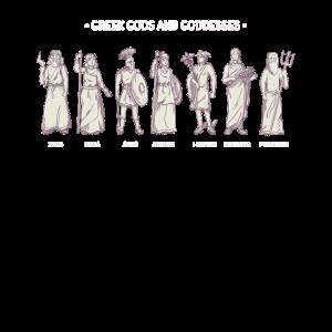 Griechische Mythologie T-Shirt Griechische Götter