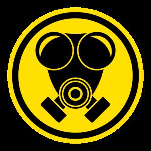 Warnschild Gasmaske