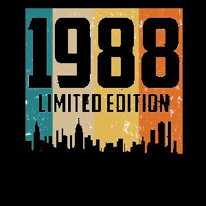 Vintage Geburtstagsshirt Geburtstag Jahrgang 1988