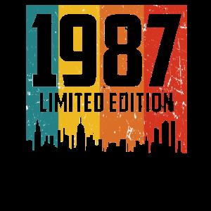 Vintage Geburtstagsshirt Geburtstag Jahrgang 1987