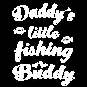 Papas kleiner Angelpartner Angeln mit Sohn Baby