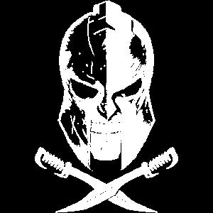 spartaner skelett helm