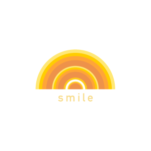 Warmer Regenbogen-Lächeln-Druck