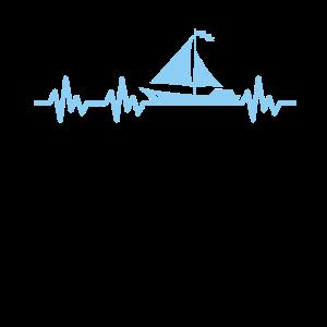 Herzschlag Segler Segelboot Puls EKG Frequenz