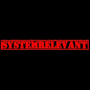 Systemrelevant Stempel Template Geschenkidee