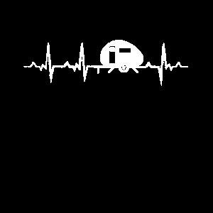 Wohnwagen Wohnmobil Camping Herzschlag EKG Puls